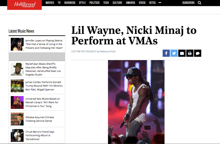 LW NM VMA 2012